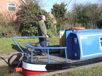Our canal boats are cruise astern