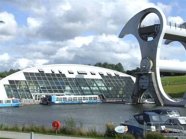 Falkirk Wharf in Scotland