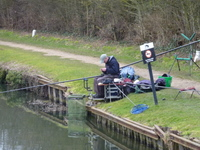 Fishing on the canal