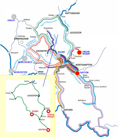 The East Midlands Ring canal boat holiday route