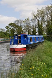 A Canal Boat moored at the canalside